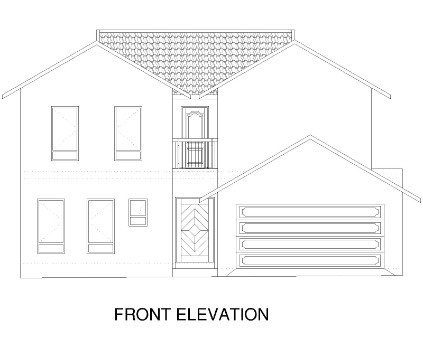 3 Bedroom House - Front Elevation