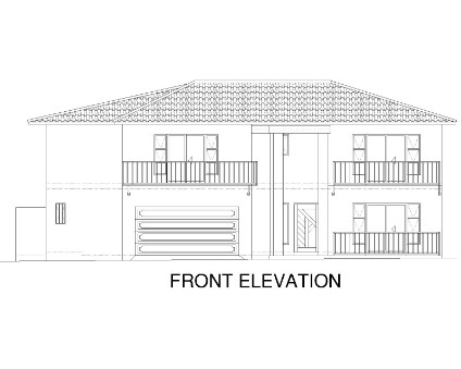 Front Elevation - 5 Bedroom House